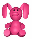 Pink puppet vector illustration