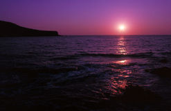 Pink and purple. Sunset in Antiparos Stock Image