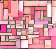 Pink purple abstract mosaic backdrop Stock Photography