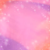Pink and purple abstract winter background. Blurred background Wallpaper. Stars Holiday concept card Stock Image