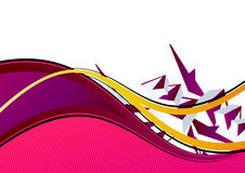 Pink and purple background. A background in pink and purple with wavy lines Royalty Free Stock Images