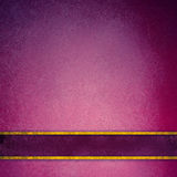 Pink and purple background with elegant gold stripes on blank label. Pink and purple background with dark purple ribbon with gold trim footer, elegant rich Stock Photography