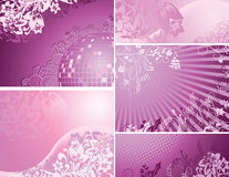 Pink and purple backgrounds collection Royalty Free Stock Photography