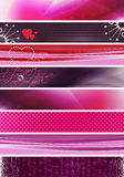 Pink purple banners stock photos