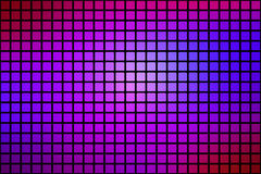 Pink purple blue abstract rounded mosaic background over black Royalty Free Stock Photography
