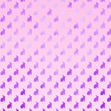 Pink Purple Bunny Background Faux Foil Bunnies Pattern Stock Images