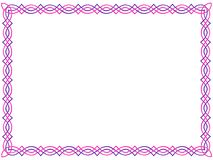 Pink and purple celtic border Stock Photos
