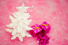 Pink and purple Christmas decorations Royalty Free Stock Image