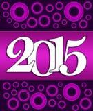 2015 Pink Purple Circles Royalty Free Stock Photos