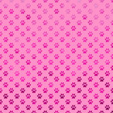 Pink Purple Dog Paw Metallic Foil Polka Dot Paws Background Pattern Stock Photo