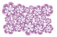 Pink Purple Flower Clip Art Stock Photography