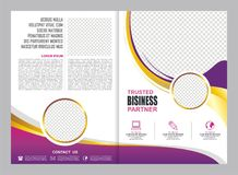 Pink and Purple Brochure, Flyer, Template Design. Pink, Purple, gold and white Brochure, Flyer, Template Design, simple, elegant and trendy design vector illustration