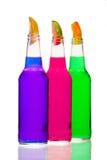 Pink Purple Green Bottles Stock Image