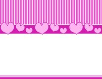 Pink Purple Hearts Stripes Bor Royalty Free Stock Image