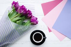 Pink, purple and magenta colors paper Stock Photography