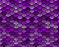 Purple Repeating Playful Mermaid Fish Scale Pattern
