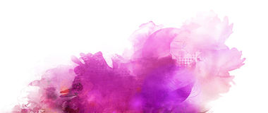 Pink purple mixed media banner Royalty Free Stock Image