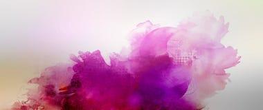 Pink purple mixed media banner Stock Photos