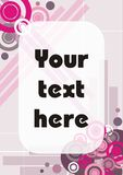 Pink and Purple Modern Abstract Card Frame Stock Images