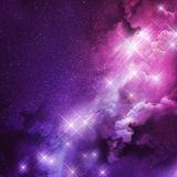 Pink and Purple Nebula Royalty Free Stock Images