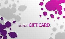 Pink, purple Object Gift Card Stock Image