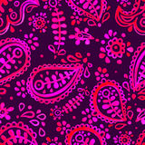 Pink and purple paisley pattern Royalty Free Stock Images