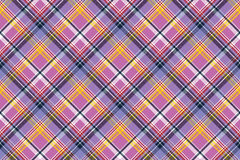 Pink purple plaid pixel texture fabric seamless pattern Stock Photography