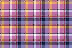 Pink purple plaid pixel texture fabric seamless pattern Royalty Free Stock Image