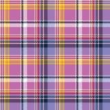 Pink purple plaid pixel texture fabric seamless pattern Stock Photos