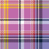 Pink purple plaid pixel texture fabric seamless pattern Royalty Free Stock Images
