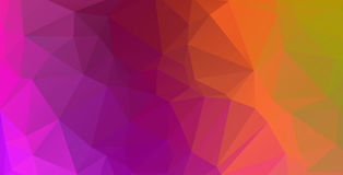 Pink purple red orange lowpoly background vector