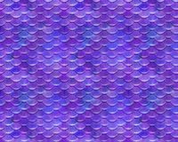 Pink Purple Repeating Playful Mermaid Fish Scale Pattern Royalty Free Stock Image