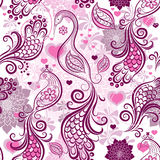 Valentine repeating pink pattern Royalty Free Stock Images