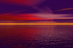 Pink and purple sky. Pink and purple landscape Royalty Free Stock Image