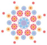 Pink and purple snowflake Royalty Free Stock Images