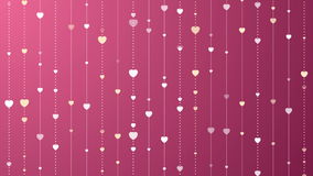 Pink and purple St Valentines Day video clip. Pink and purple St Valentines motion graphic design with hearts. Video animation clip Ultra HD 4K 3840x2160 stock video