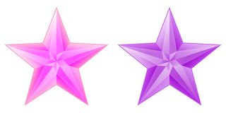 Color stars. Pink and purple stars with few light gradients Stock Image