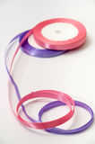 Pink and purple strip for tying bow and packaging Stock Photo