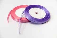 Pink and purple strip for tying bow and packaging Stock Images