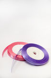 Pink and purple strip for tying bow and packaging Royalty Free Stock Image