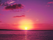 Pink and Purple Sunset Royalty Free Stock Image