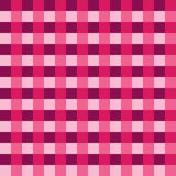 Pink purple tablecloth Vector. Traditional tablecloth pattern Vector. Pink purple color square pattern Stock Images