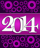 2014 Pink Purple Stock Image