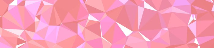 Pink and purple triangle polygon in banner shape background illustration. Pink and purple triangle polygon in banner shape background illustration royalty free illustration