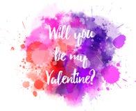 Pink and purple Valentine splash Royalty Free Stock Photography