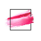 Pink, purple watercolor brush strokes with space for your own text. Wet brush stroke on paper texture. Dry brush strokes. Abstract composition for design vector illustration