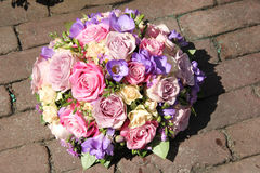 Pink and purple wedding bouquet Royalty Free Stock Images