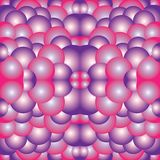 Pink Purple White Psychedelic kaleidoscope art illustration background. Image for graphic art or digital art Royalty Free Stock Photography