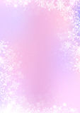 Pink and purple winter paper background with snowflake border Stock Photo