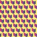 Pink, purple, yellow  graphic pattern. Abstract seamless background with the effect of volume. pink, purple, yellow background. graphic pattern Royalty Free Stock Photography